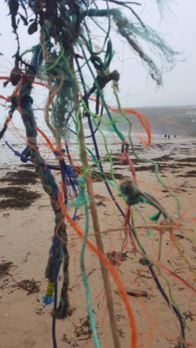 Final straw, beach clean, Mawgan Porth