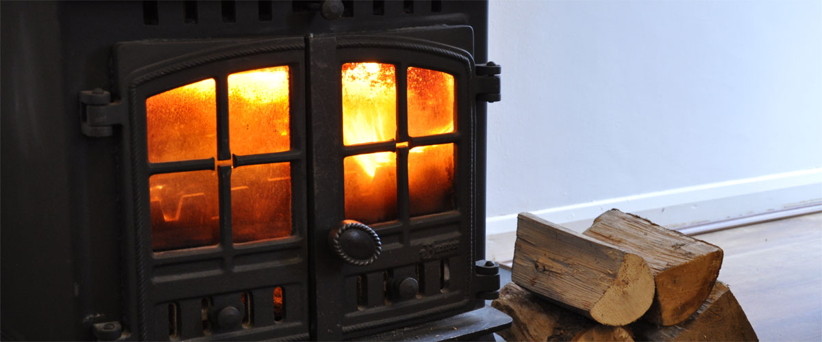 ..and log burner for cosy evenings in..